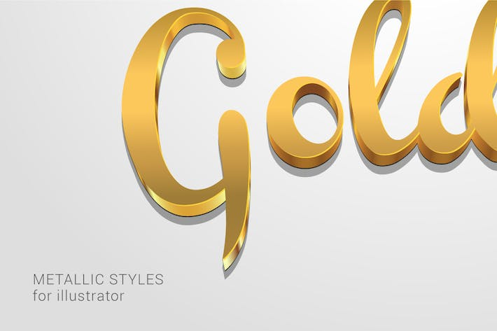 Thumbnail for Metallic Styles for Illustrator