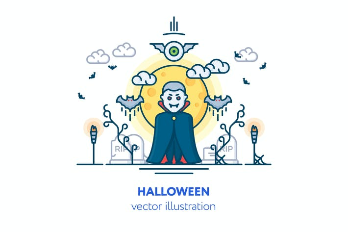 Thumbnail for Halloween-Vektor Illustration