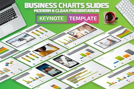 Business Chart Slides Keynote Presentation