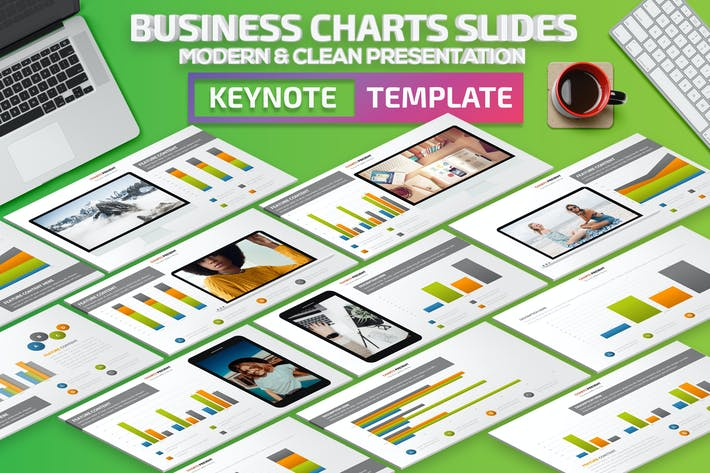 Thumbnail for Business Chart Slides Keynote Presentation