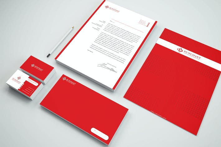 Thumbnail for Company Branding Identity & Stationery Pack