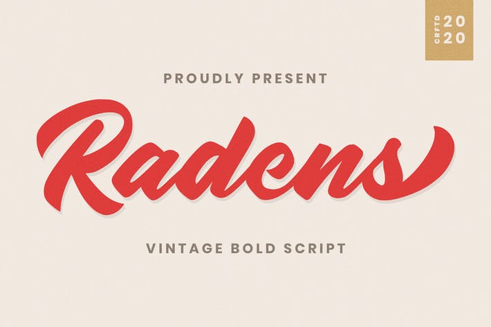Thumbnail for Radens - Letra negrita vintage