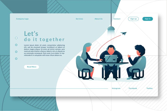 Cover Image For Let's do it Together  - Landing Page GR