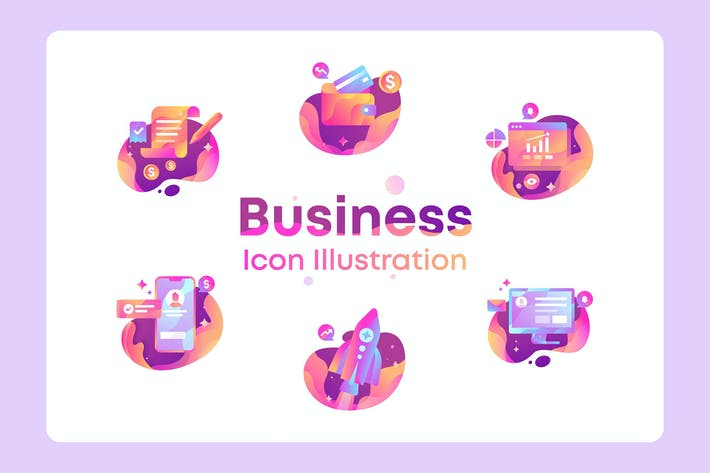 Thumbnail for Business, Finance, marketing Icon Illustration