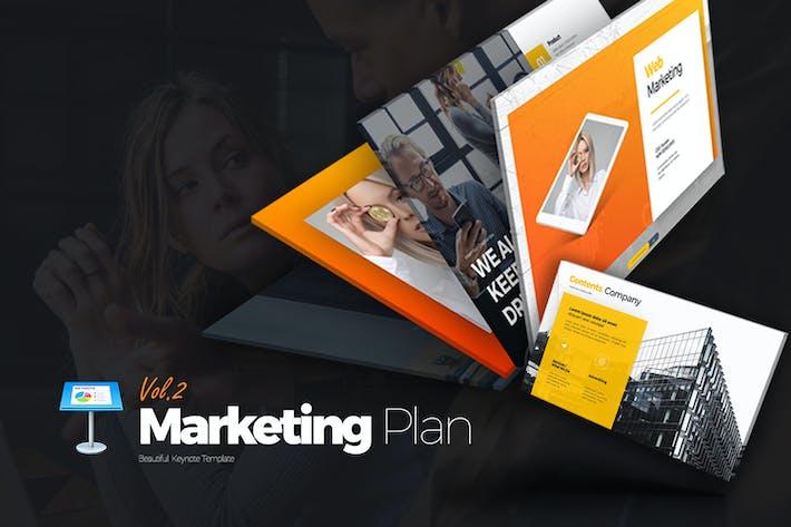 Thumbnail for Marketing Plan Vol 2 Keynote Templates