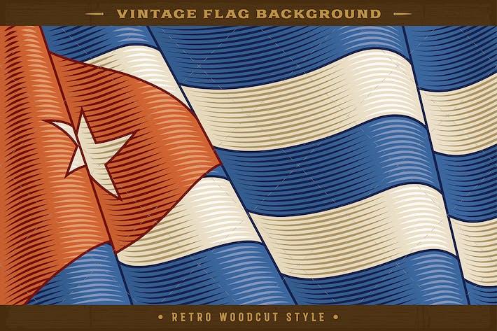 Thumbnail for Fondo Vintage de la bandera cubana