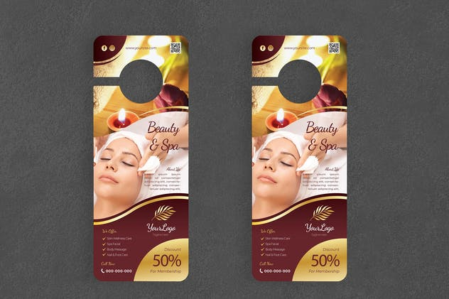 Beauty & Spa Door Hanger Creative Promotion