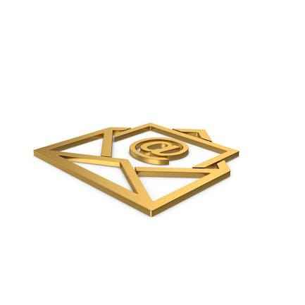Gold Symbol Email Envelope