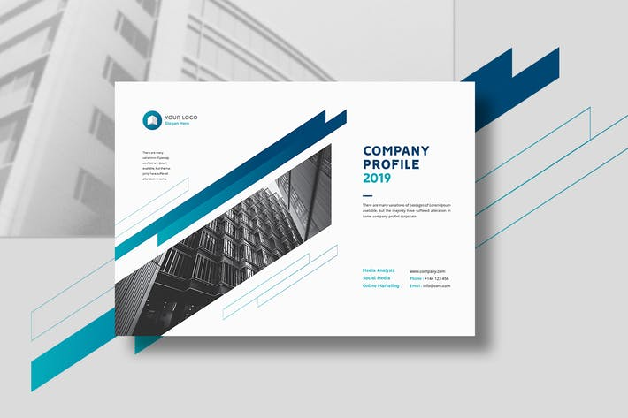Thumbnail for Company Profile Landscape A4 & A5
