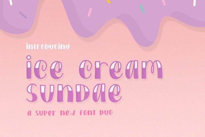 Thumbnail for Ice Cream Sundae Font Duo