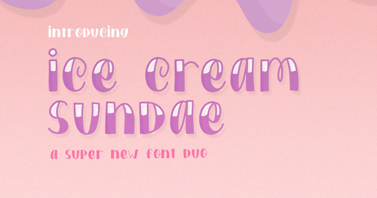 Download Ice Cream Sundae Font Duo by maroonbaboon