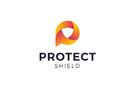 Letter P Protect Shield Logo