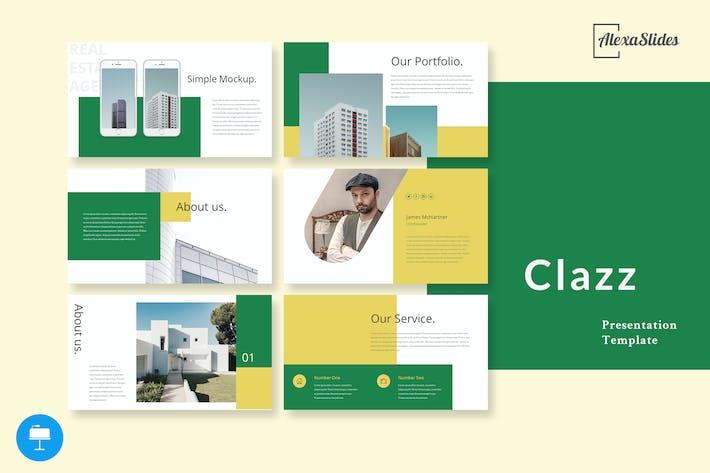 Thumbnail for Clazz - Real Estate Keynote Presentation Slides
