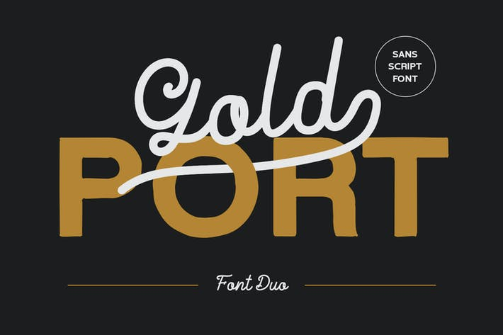 Thumbnail for Gold Port - Font Duo