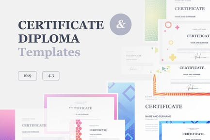 Certificate & Diploma PowerPoint Templates