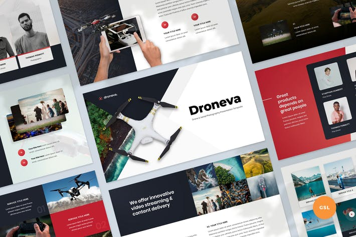 Thumbnail for Drone Photography Slides Template Presentation