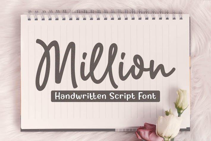 Thumbnail for Million - Police de script Handwriiten