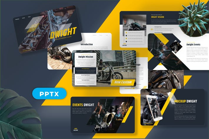 Thumbnail for Дуайт - Мотоцикл Googleslide Шаблоны