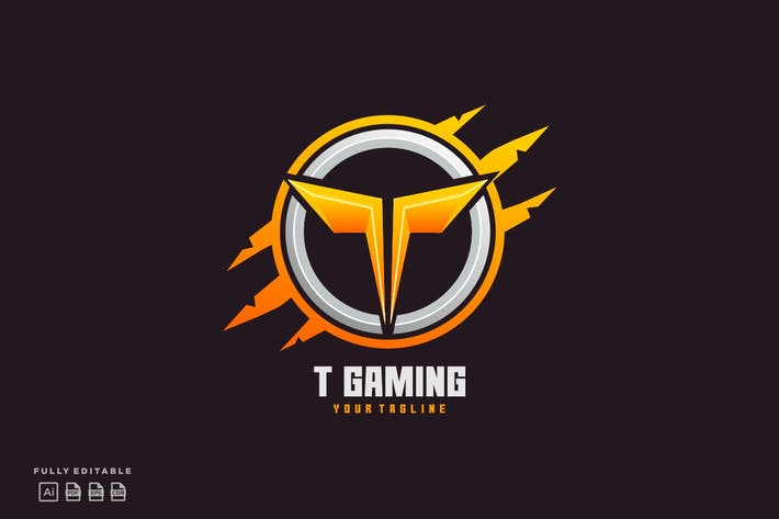 Thumbnail for T Gaming Letter T  Team for Gaming Logo