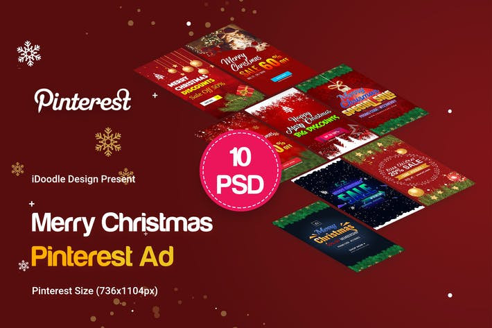 Cover Image For Merry Christmas Pinterest Ad