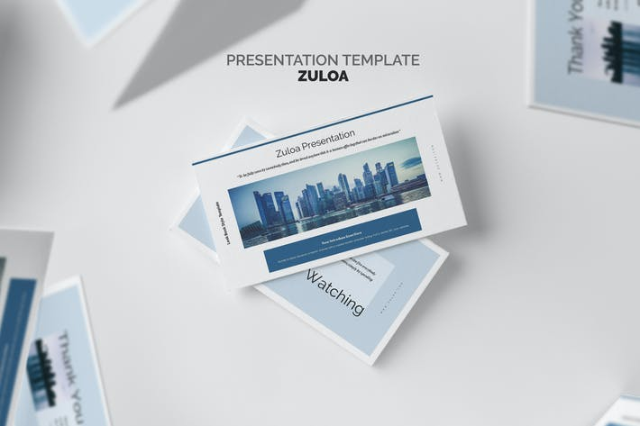 Thumbnail for Zuloa : Blue Color Business Profile Powerpoint