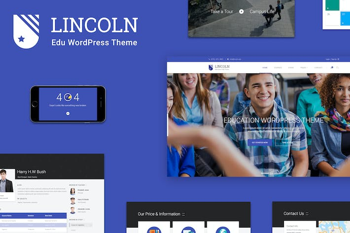 Thumbnail for Lincoln | Educational Material Design PSD Theme