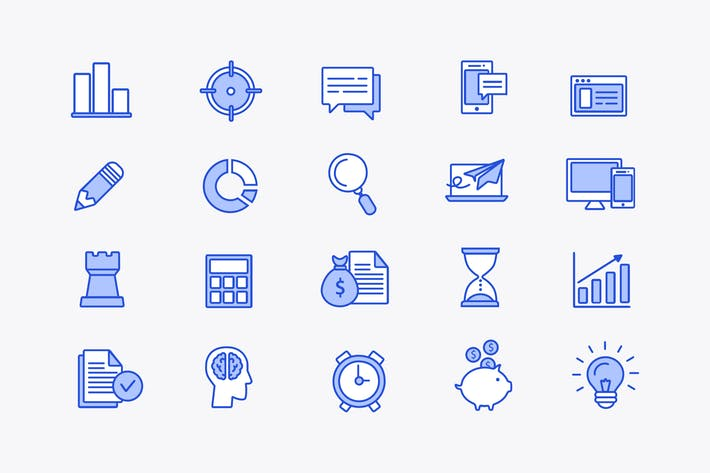 Thumbnail for Business Strategy Icons
