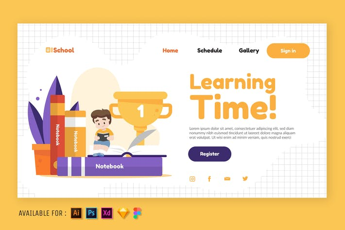 Thumbnail for Learning Time - Web Illustration