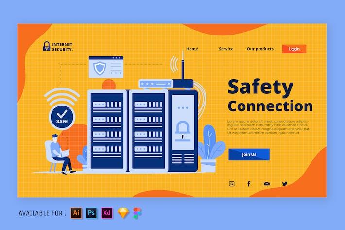 Thumbnail for Safety Server - Web Illustration
