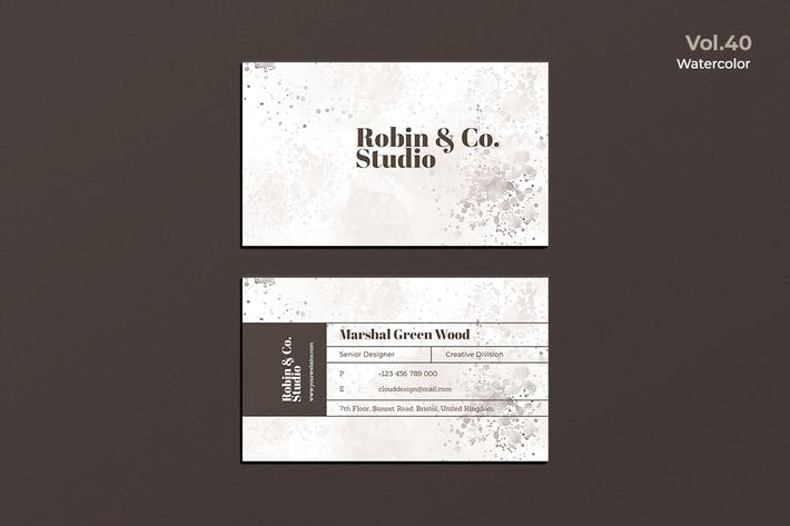 Thumbnail for Business Card Watercolor Vol. 40