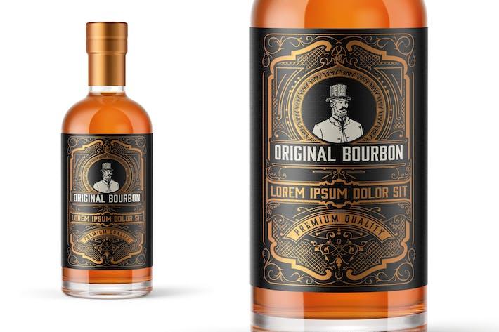 Vintage Bourbon Etikettenlayout
