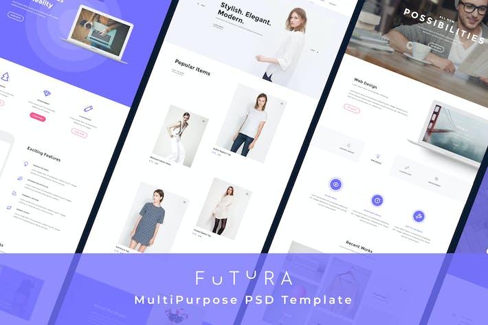 Thumbnail for Futura - Multipurpose Corporate PSD Template
