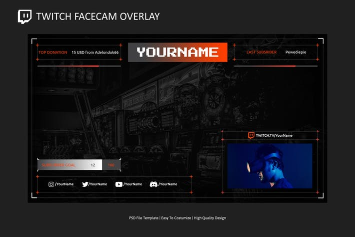 Video Overlay v5 | Video Streaming Overlay