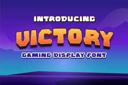 Victory Gaming Display Font