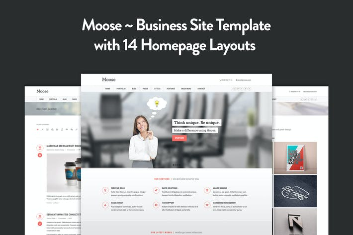 Thumbnail for Moose - Multipurpose Responsive HTML5 Template