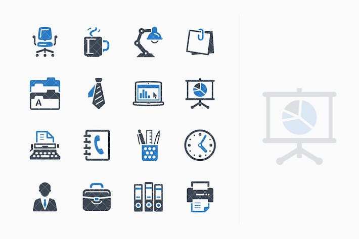 Cover Image For Office Icons - Blue Series