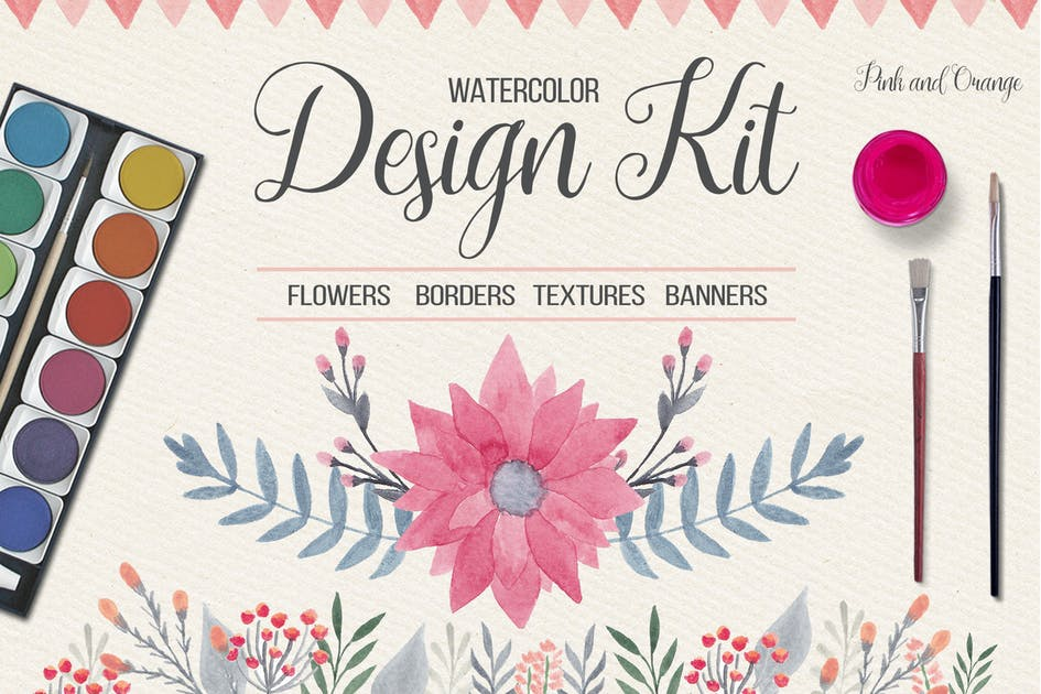 Download Watercolor Floral Design Kit by switzergirl