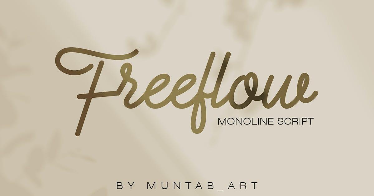 Download Freeflow Monoline Script by Muntab_Art