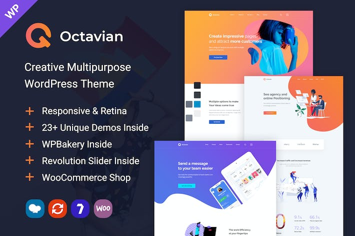 Thumbnail for Octavian - Creative Multipurpose WordPress Theme