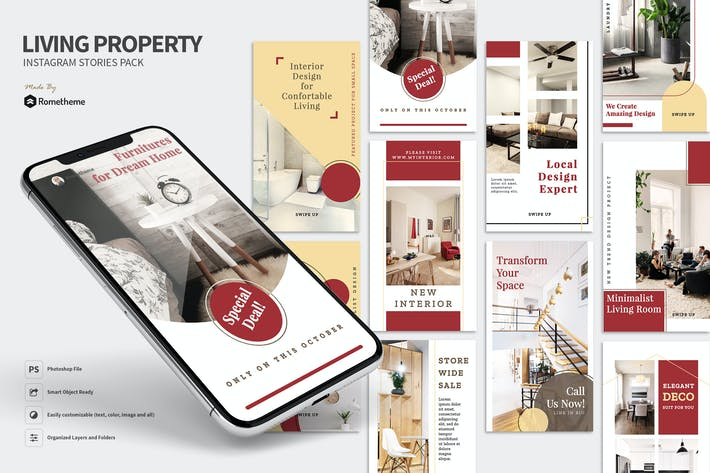Thumbnail for Living - Property Instagram Stories Pack