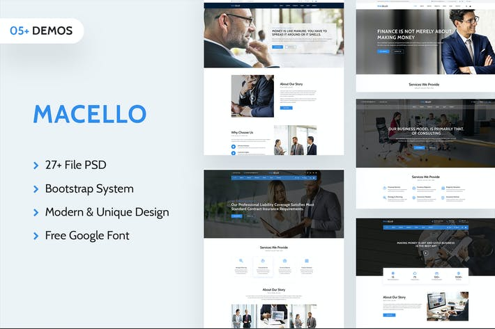 Thumbnail for Macello | Business Psd Template