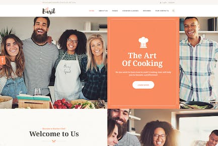 Basil | Cooking Classes and Workshops WP Theme