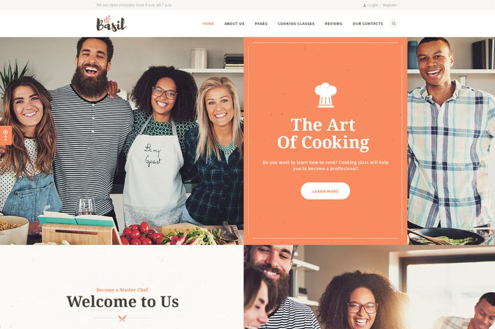 Thumbnail for Basil | Cooking Classes and Workshops WP Theme