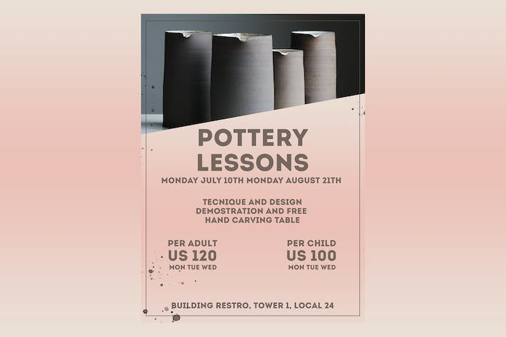 Thumbnail for Pottery Classes Flyer Poster