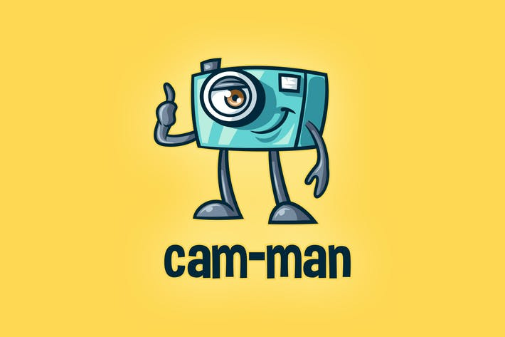 Thumbnail for Cartoon Camera Mascot Photography & Media Logo