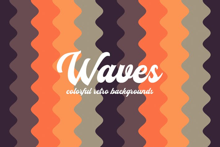 Thumbnail for Colorful Vertical Retro Waves Backgrounds