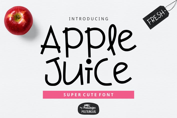 Thumbnail for Apple Juice Font