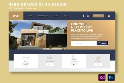 Property – Hero Header Website Template
