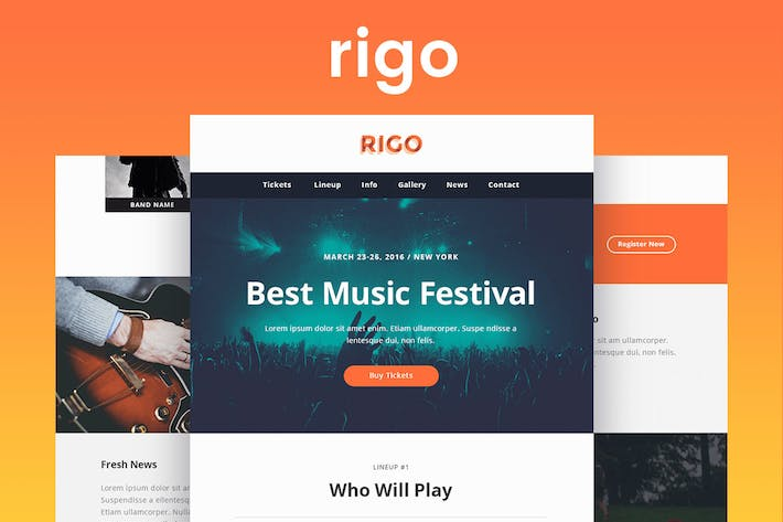 Thumbnail for Rigo - Responsive Email and Newsletter Template