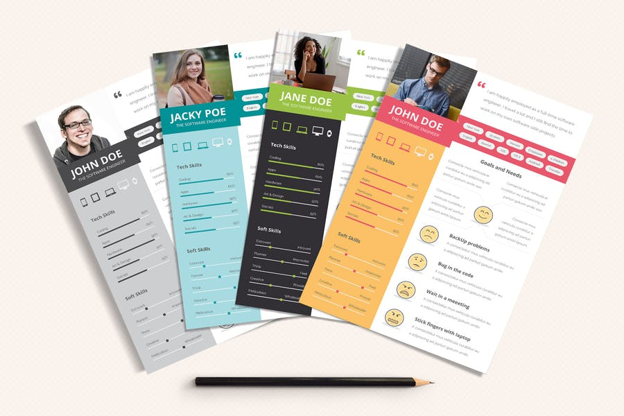 UX Workflow - Proto-Persona Cards